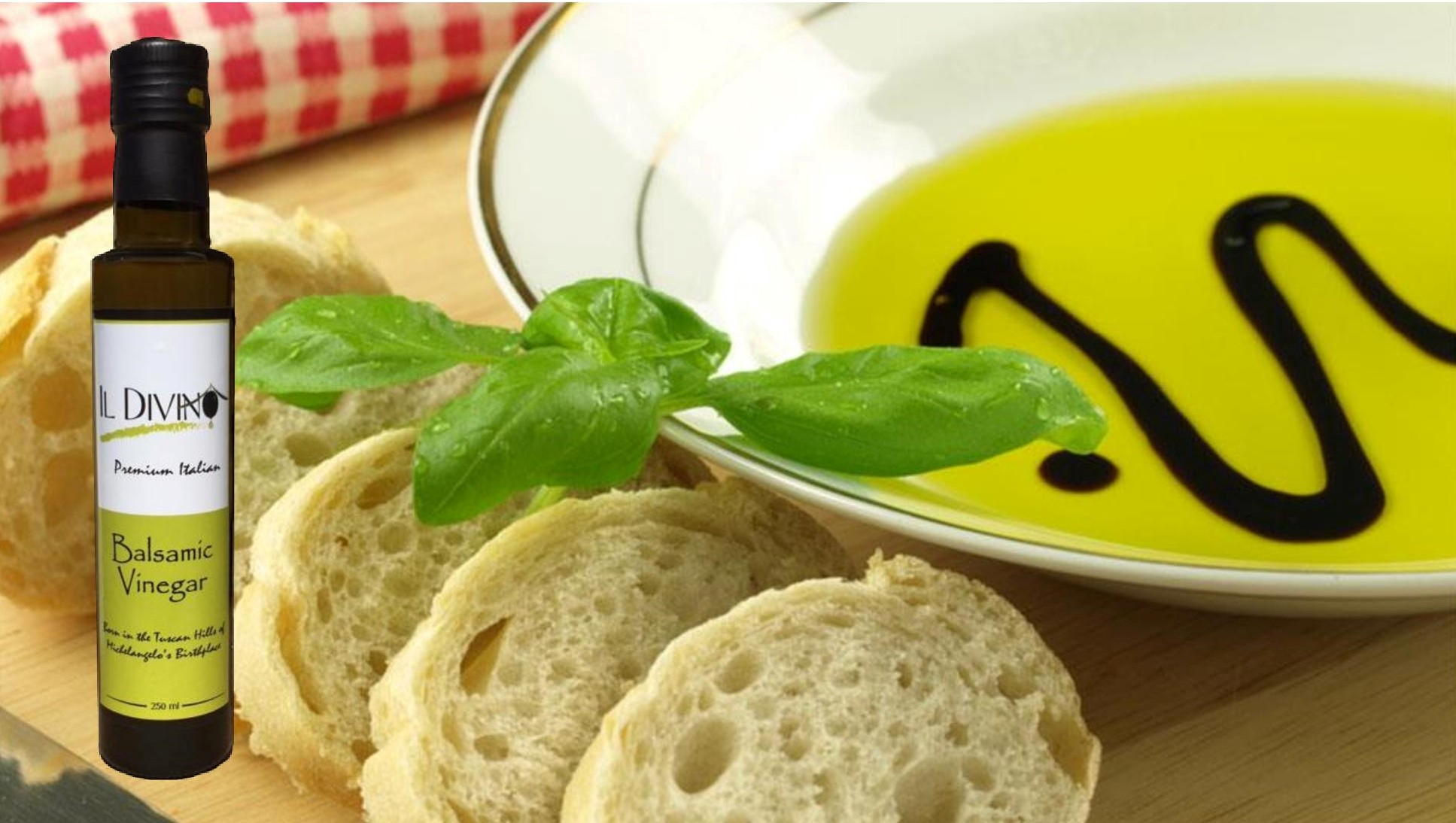 IL DIVINO Balsamic Vinegar is the perfect complement to our IL DIVINO Extra Virgin Olive Oil
