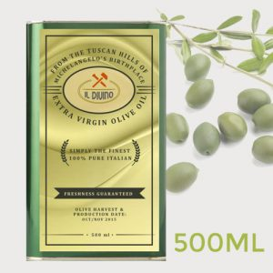 IL DIVINO Extra Virgin Olive Oil 500ml 2015