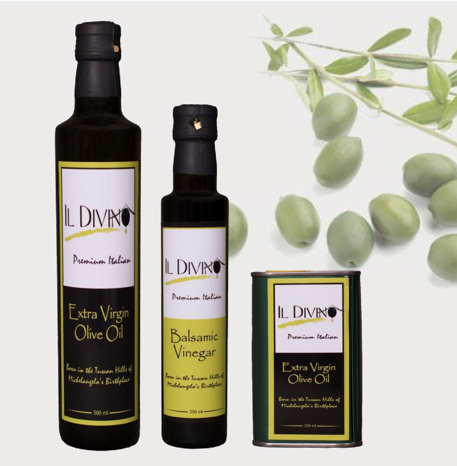 IL DIVINO Extra Virgin Olive Oil Products